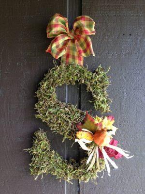 DIY Fall Monogram Door Hanger/ Wreath
