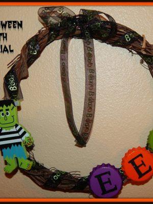 5 Minute Mini Halloween Wreath