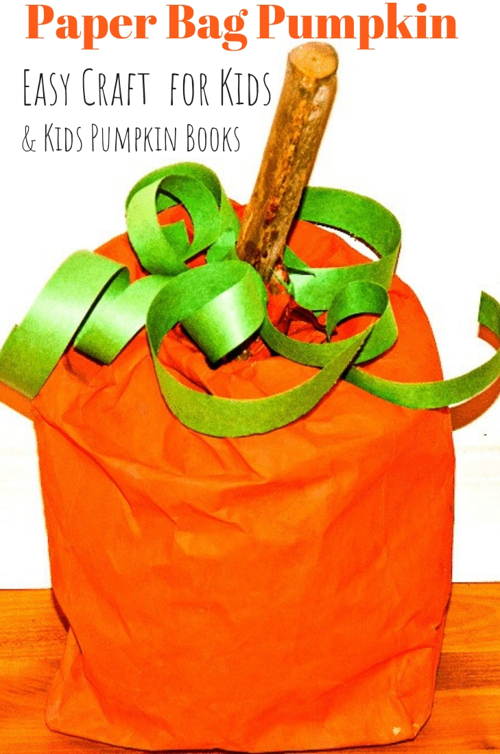 Paper Bag Pumpkin with List of Kids Pumpkin Books