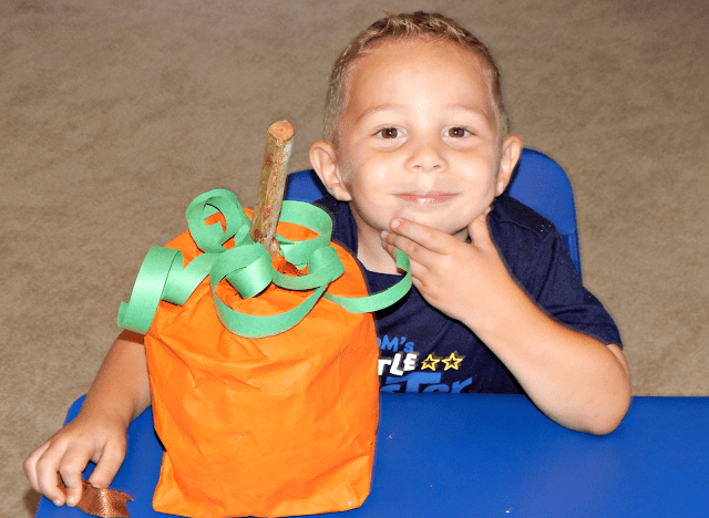 Paper Pumpkin Bag