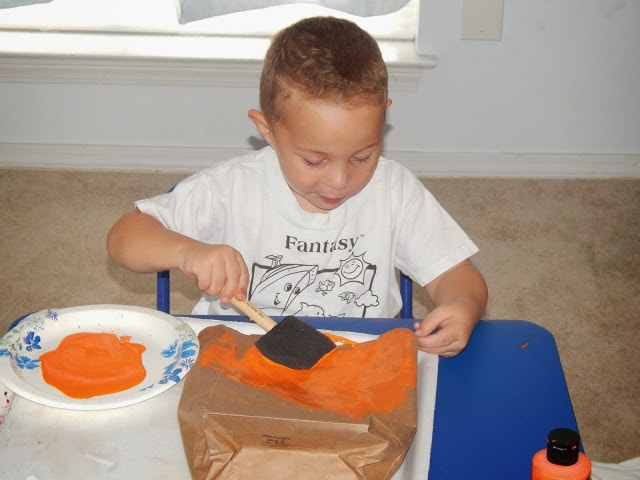Painting Paper Pumpkin Bag