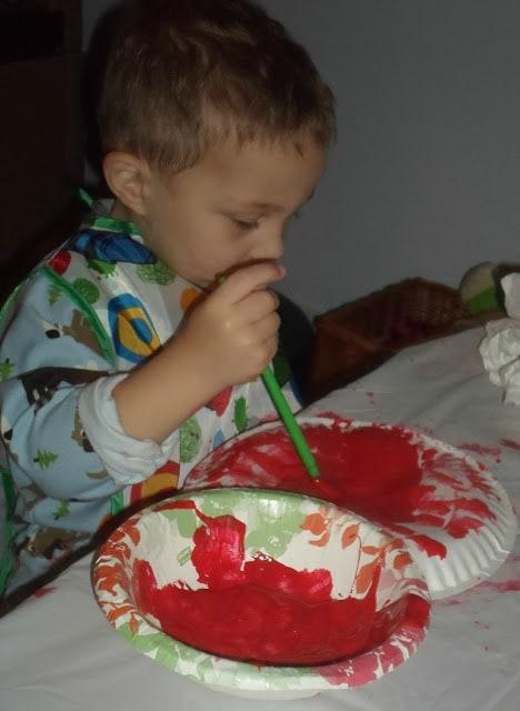 Kids Paper Plate Apple Craft Art