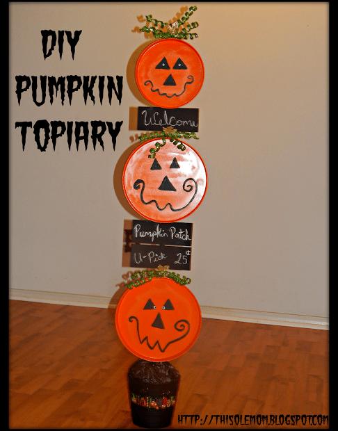 DIY Halloween  Pumpkin Topiary