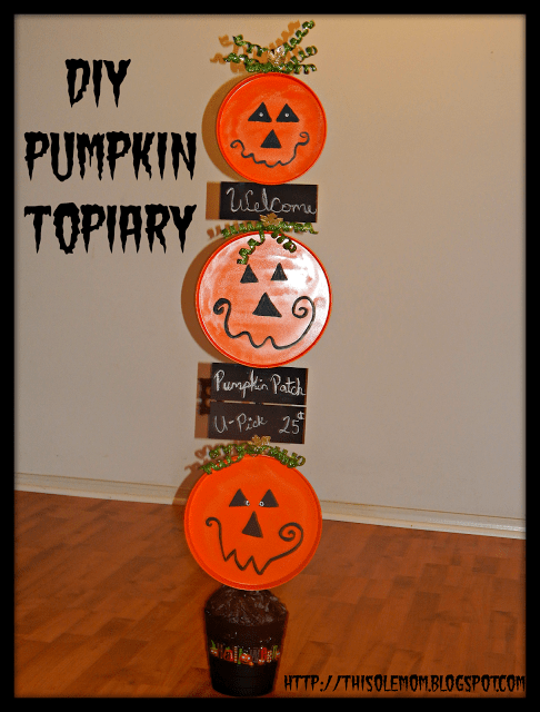 Pumpkin Topiary Chalkboard Chalkboard Signs Crafts