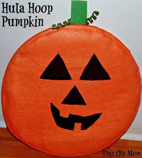 Hula Hoop Pumpkin Craft Kids Craft Pumpkin Craft Halloween Craft