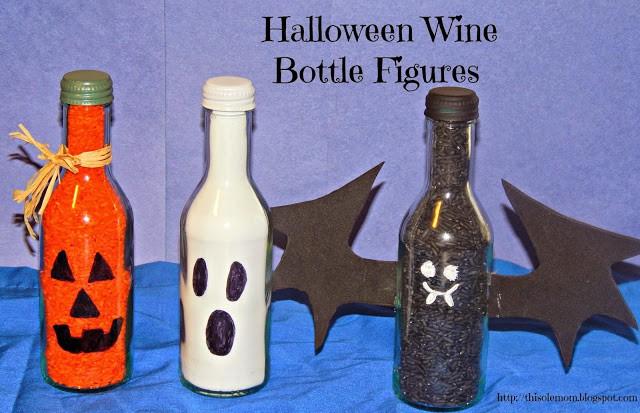 DIY Wine Bottle Halloween Bottle Crafts