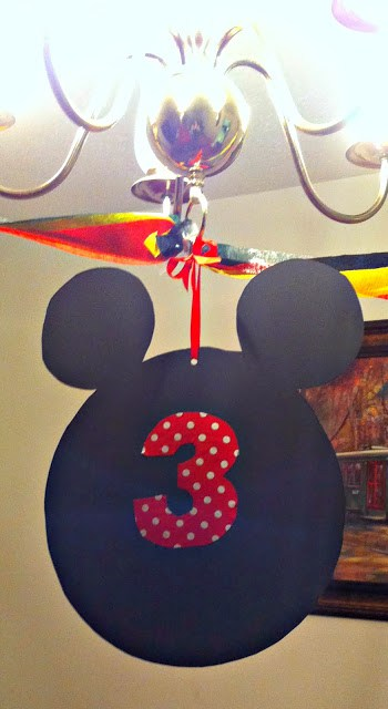 DIY Mickey Birth Party Hanging Head