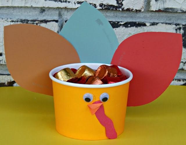 Paint Chip Turkey Treat Cups