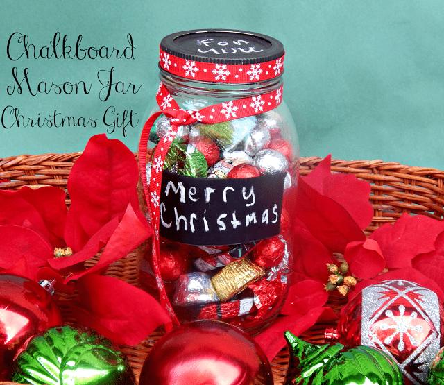 Mason Jar Gifts , Mason Jar Crafts , Mason Jar Christmas Ideas, Chalkboard Mason Jar