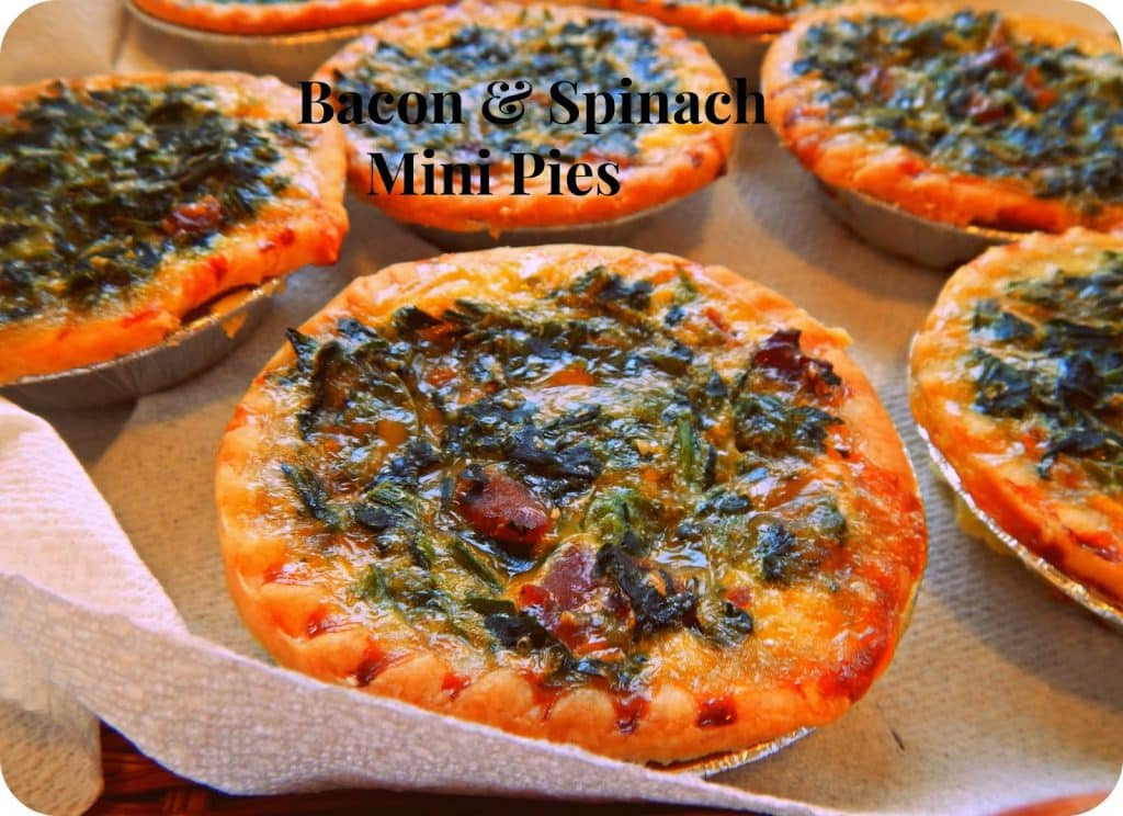 Bacon and Spinach Tarts, Spinach Quiche, Bacon and Spinach , Mini Spinach Pies