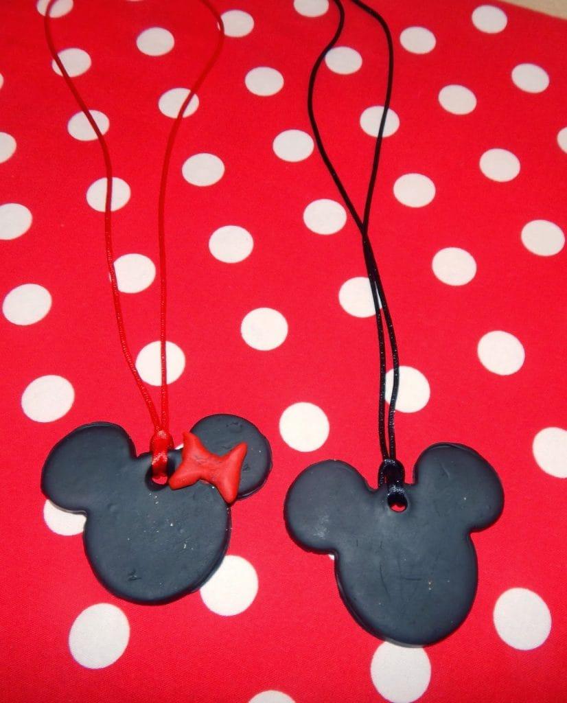 Mickey & Minnie Polymer Clay Pendants