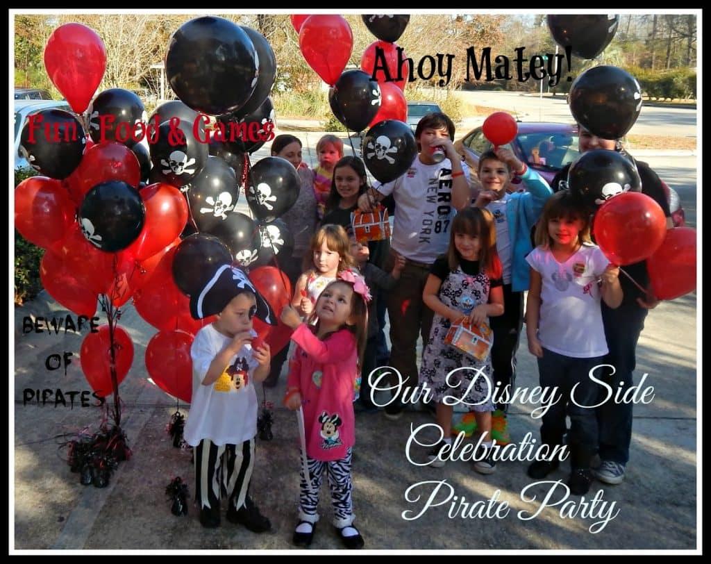 Disney Side Celebration, Pirate Party, Birthday Party