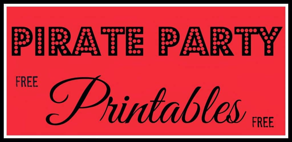 image relating to Pirate Party Printable known as Pirate Get together Printables - This Ole Mother