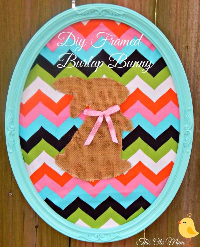 Burlap Bunny ,Easter Mantel, Burlap Easter Bunny, Framed Bunny, Easter, Spring
