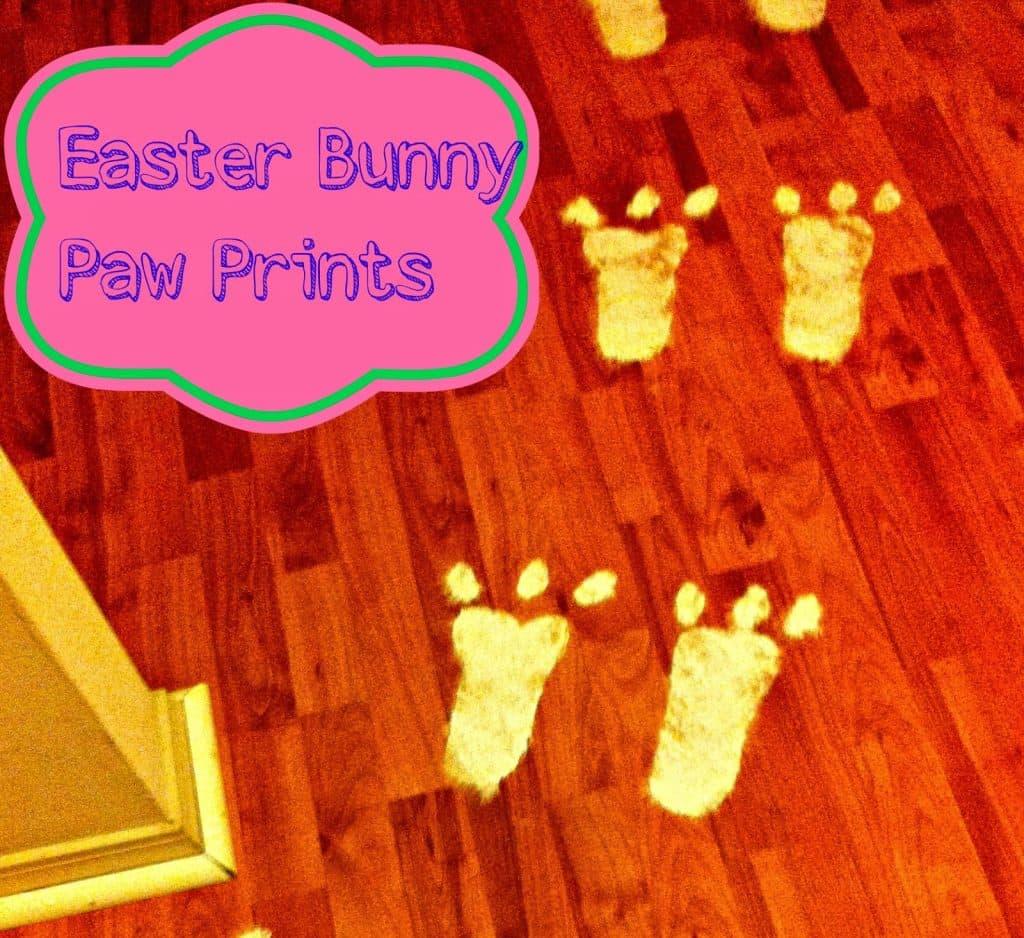 Easter Bunny, Easter Bunny Craft, Easter Bunny Paw Print, Easter Bunny Prints