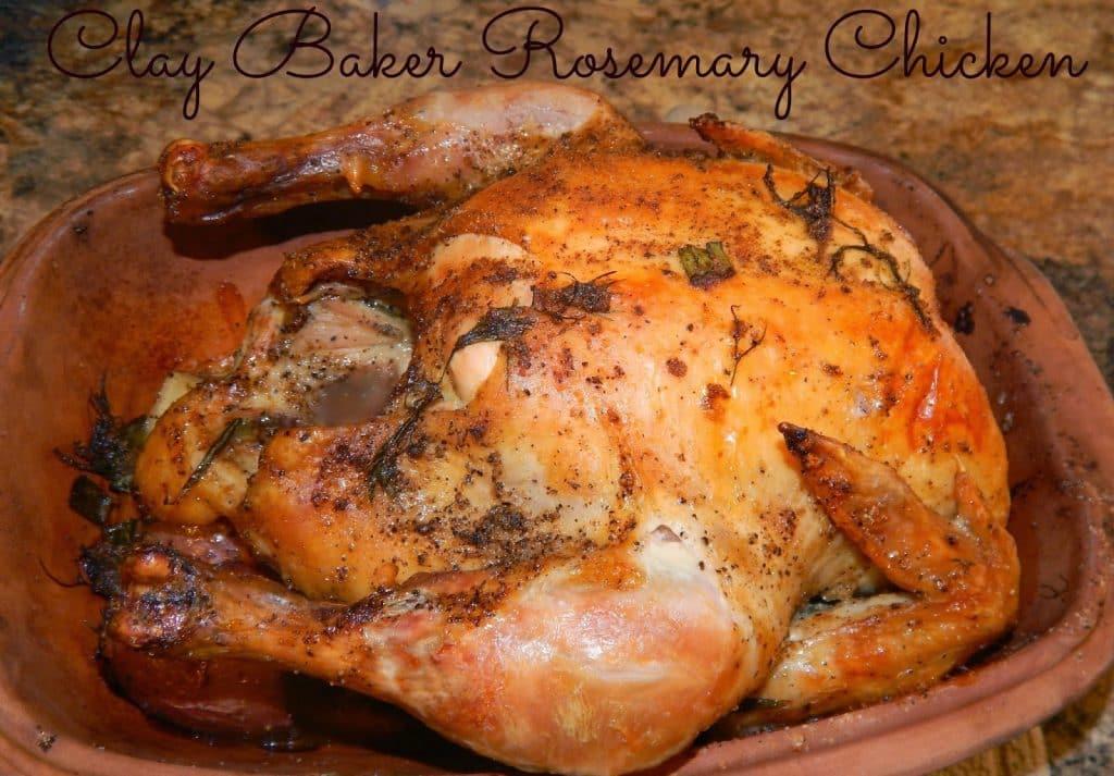 Roasted Chicken, Baked Chicked, Romertopf Clay Baker Recipe, Chicken, Clay Baker, Herbs , Rosemary, Fennel