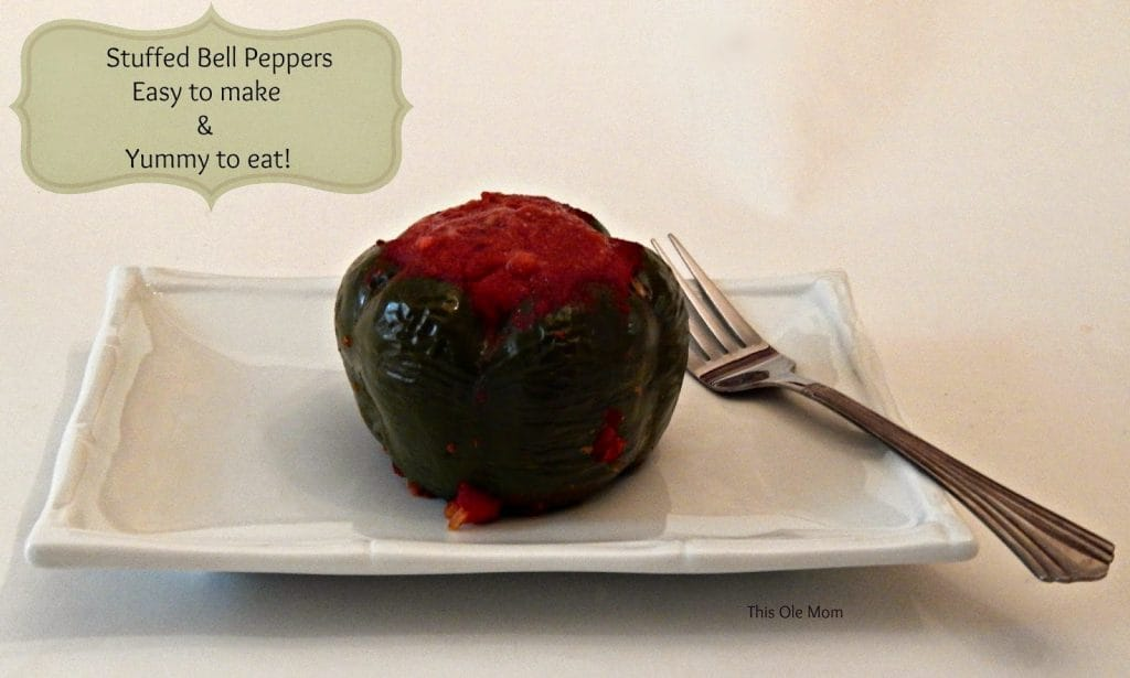 Green Bell peepers, Meat Stuffed Bell Peppers, Rice Stuffed Bell Peppers, bell Peppers