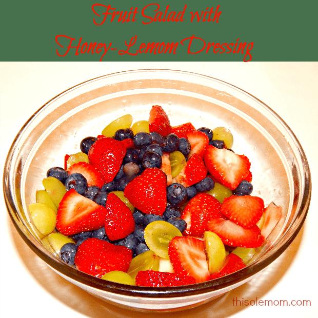 Strawberries, Blueberries, Driscoll, Fruit Salad with Honey-Lemon Dressing