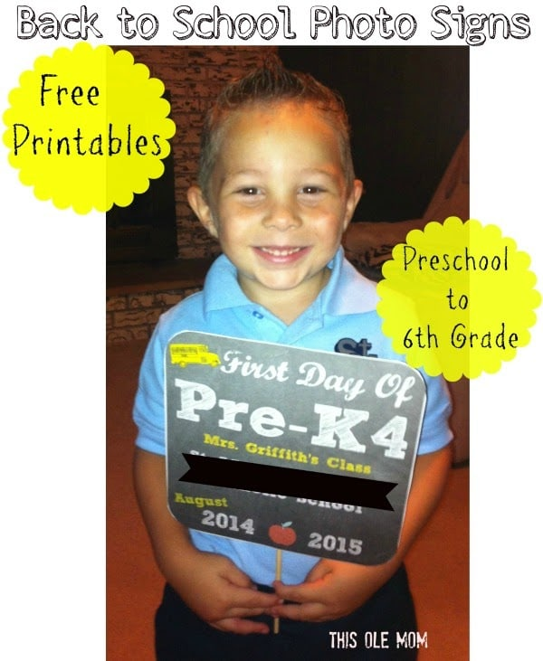 Back to School Printables, Back to School Photo Prop, Printables, Back to School