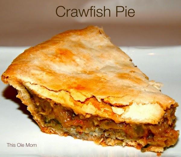 Crawfish Pie recipe, Seafood Recipe, Crawfish Recipe, New Orleans seafood, Louisiana Crawfish Recipe