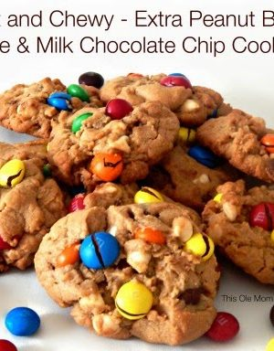 Soft and Chewy – Extra Peanut Butter White & Milk Chocolate Chip Cookies