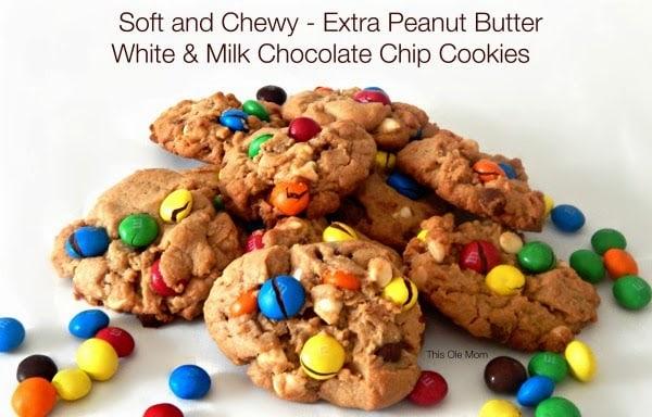 Peanut Butter Cookies, Homemade Cookies, Peanut Butter M&M Cookies, Chocolate Chip Peanut Butter Cookies