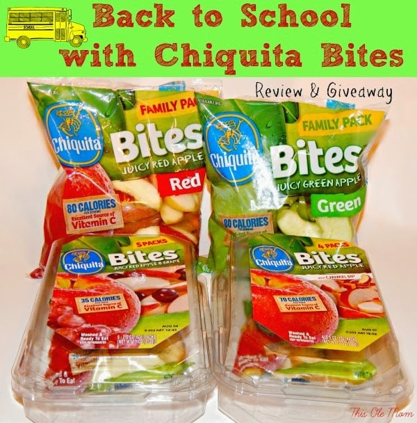 Back to School with Chiquita Bites: Review & Giveaway
