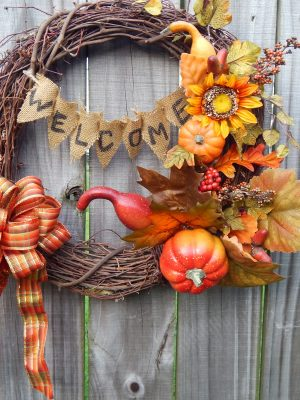 "DIY Fall  "" Welcome""  Wreath"