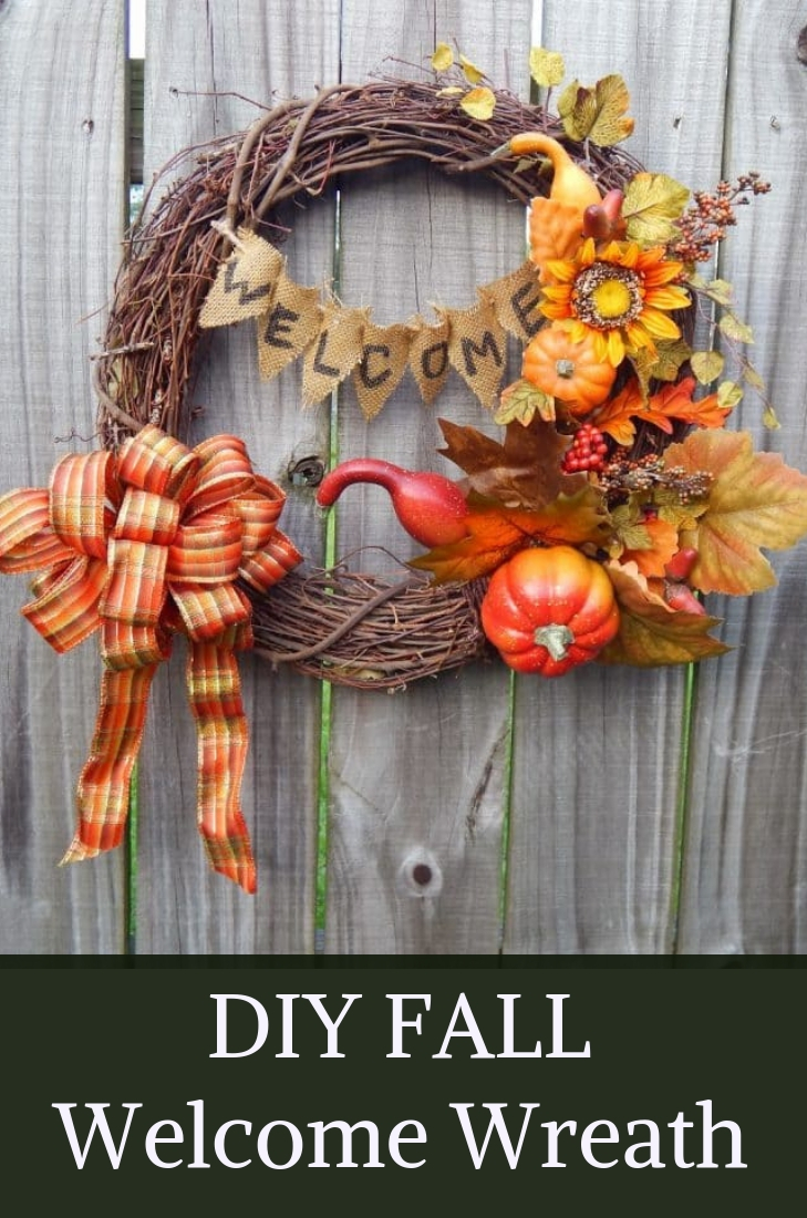 Diy Fall Welcome Wreath