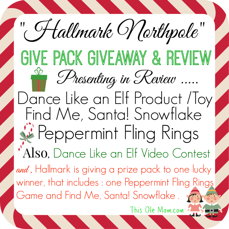 Northpole Find Me , Santa! , Northpole Peppermint Ring Flings , Blog Review Northpole Products, Dance Like an Elf Review and Giveaway