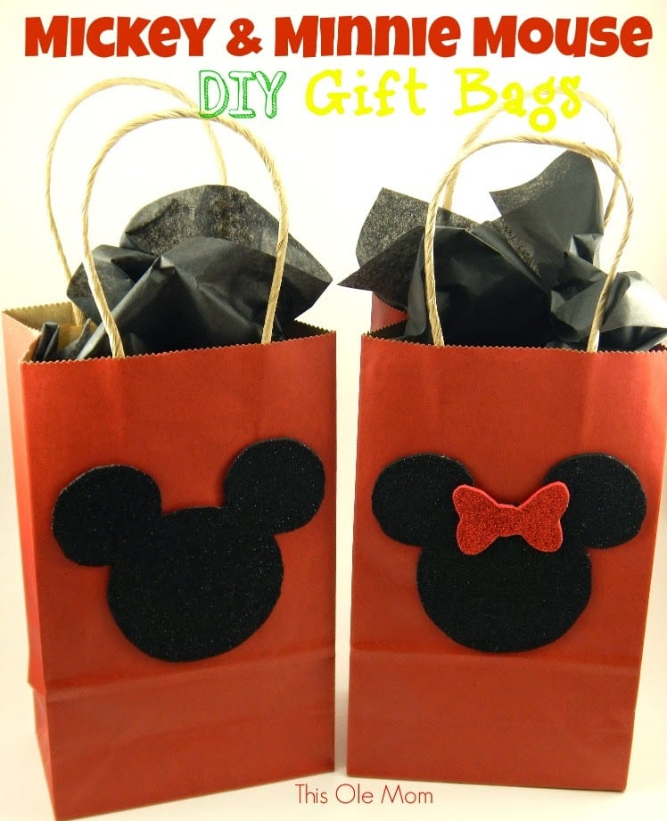 Diy mickey and minnie mouse gift bags this ole mom mickey mouse gift bags mickey mouse favor bags minnie mouse gift bags minnie negle Image collections