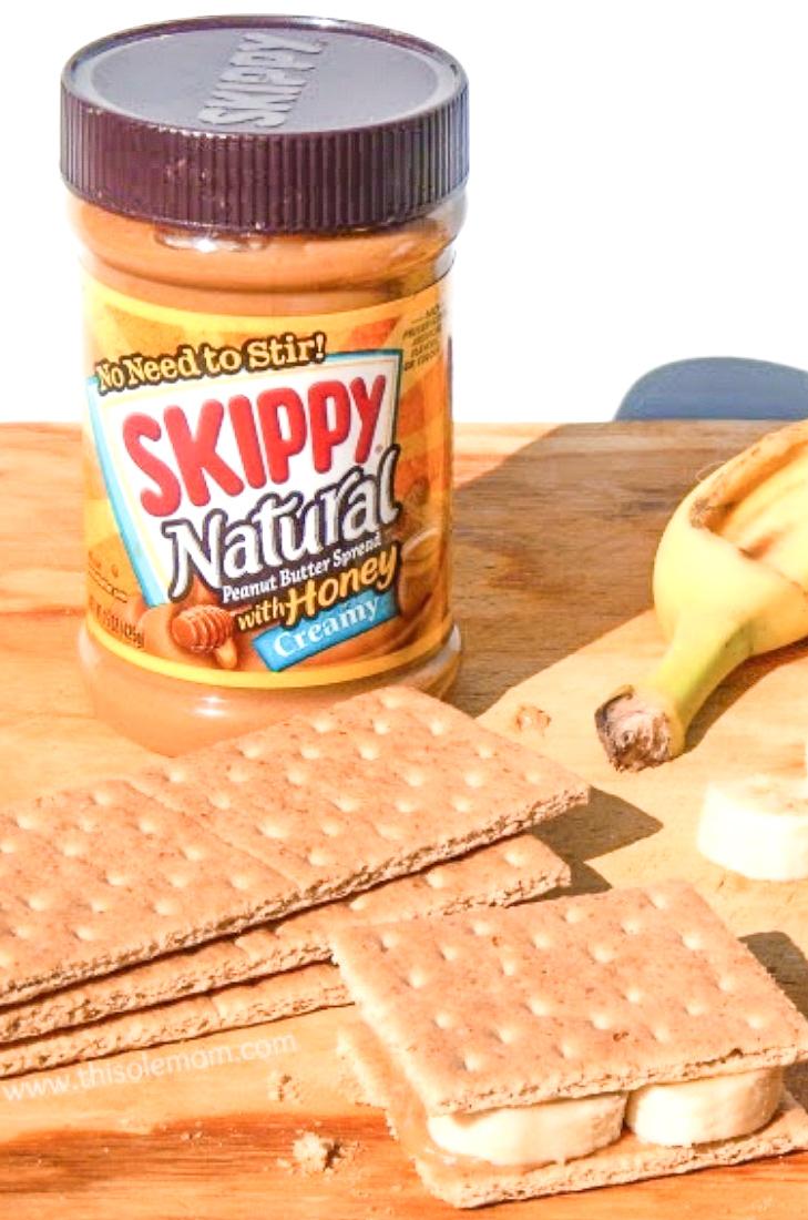 Peanut Butter & Banana Grahamwiches