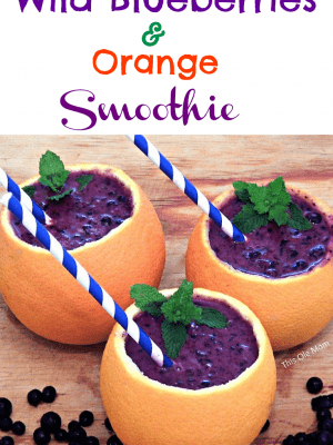 Wild Blueberries and Orange Smoothie