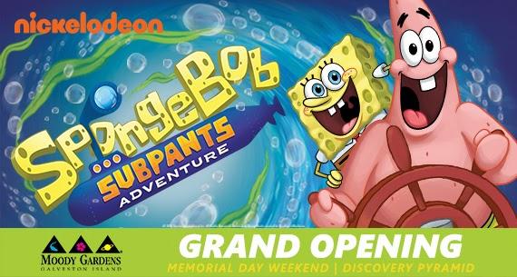 SpongeBob SubPants Adventure Opening this Memorial Weekend at Moody Gardens Galveston, Texas + Coupon Code