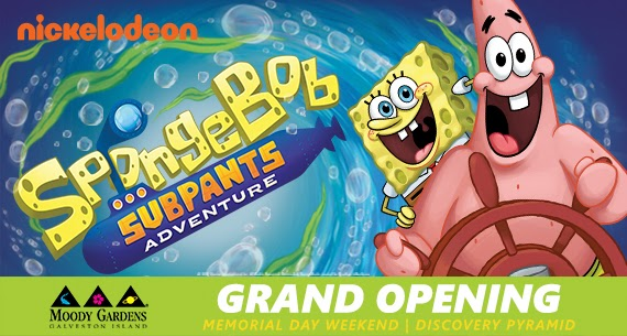 Great SpongeBob SubPants Adventure Opening This Memorial Weekend At Moody Gardens  Galveston, Texas + Coupon Code