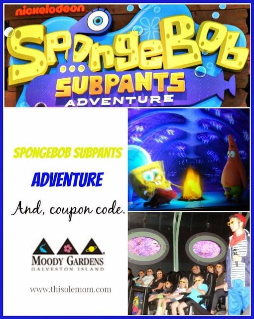 SpongeBob, SpongeBob SubPants Adventure, Nickelodeon SpongeBob SubPants Adventure, SpongeBob SubPants Media Preview Event, SpongeBob SubPants Adventure Coupon, Moody Gardens SpongeBob SubPants, Moody Gardens Attractions , Moody Garden Value Pass Coupon Code. Mood Gardens Coupon
