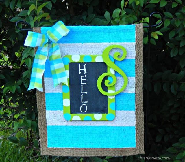 DIY: No Sew Burlap Garden Flag