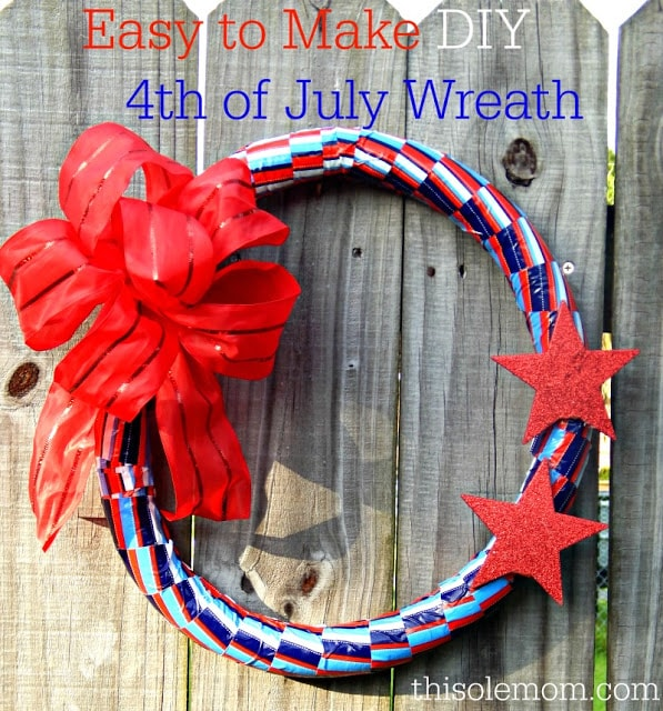 Easy to Make DIY 4th of July Wreath