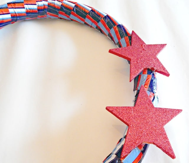 DIY Fourth of July Wreath with Stars