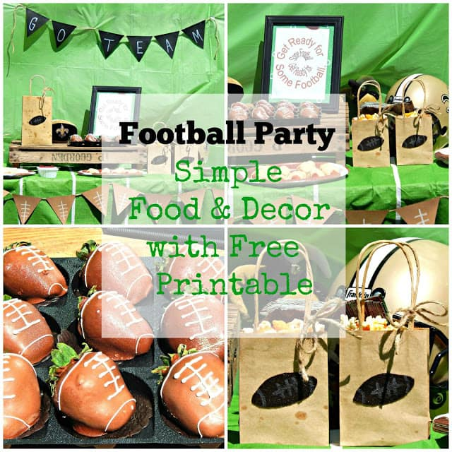 Football Theme Party, Football Party, Football Party Ideas, DIY Football Party, Football Printable, Free Printable, Football Food, Football Decor, Football Party Food & Decor
