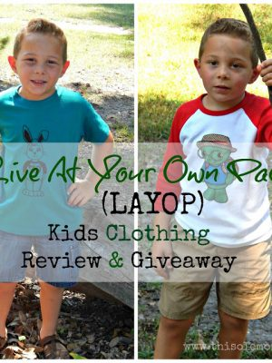 Live At Your Own Pace (LAYOP) Kids Clothing Review & Giveaway