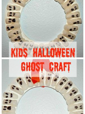 Kids Halloween Packaging Peanuts Ghosts Craft