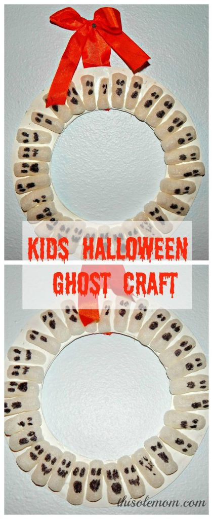 Halloween Ghost Craft, Kids Ghost Craft, Halloween Wreath, DIY Halloween Wreath, DIY Ghost Craft, Ghost Craft Ideas, Halloween Party Craft Idea, Recycle Craft idea, Packaging Peanuts Craft Idea, Packaging Peanuts Crafts