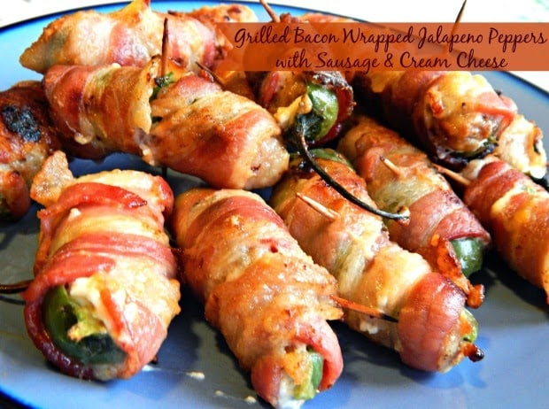 Grilled Bacon Wrapped Jalapeno Peppers
