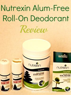 Nutrexin Alum-Free Roll-On Deodorant Review  #NutrexinUSA #MomsMeet