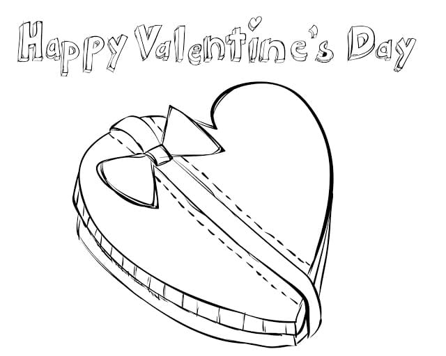 Valentine's Day Kids Printable Coloring Pages