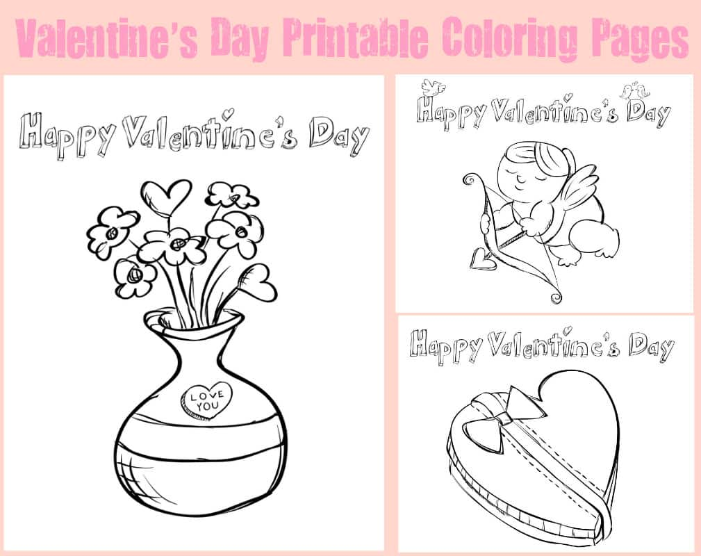valentine coloring pages to print out - photo #36