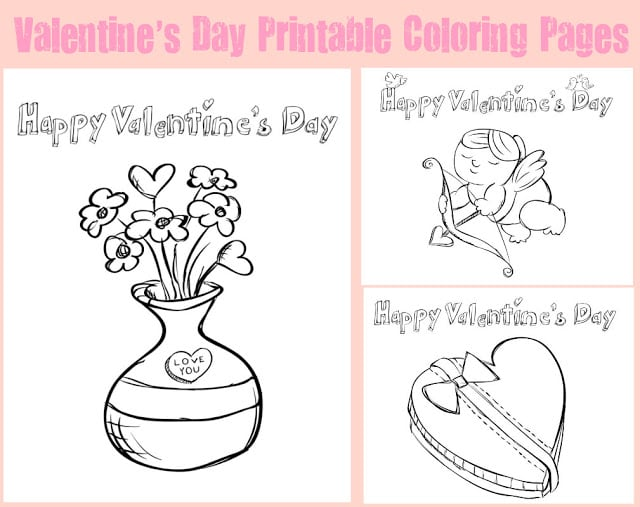 the coloring pages are fun for kids to color and would make a cute gift for them to give as a valentines to someone special - Kids Printing Pages