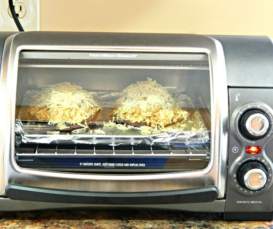 Crab Stuffed Mushrooms Cooked in Toaster Over