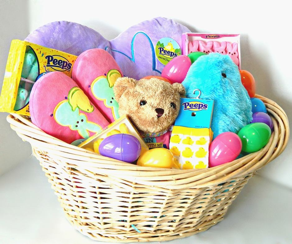Peeps tastic easter basket idea printable this ole mom peeps diy easter basket idea negle Gallery